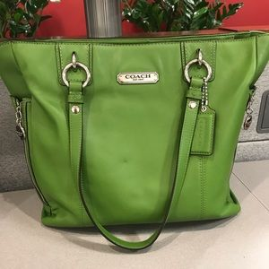 Pristine green Coach bag